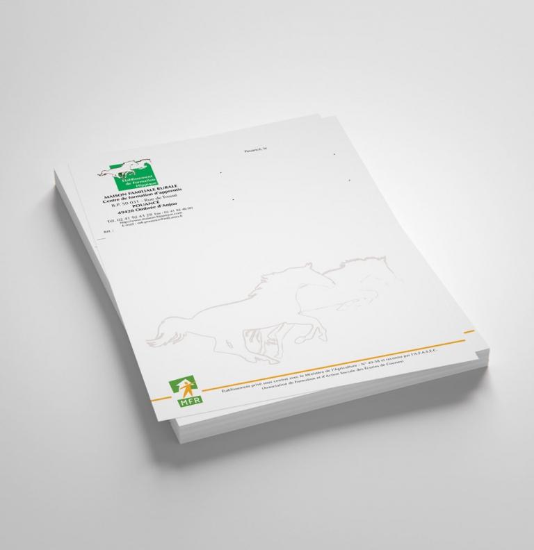 papier à en-tête / enveloppes
